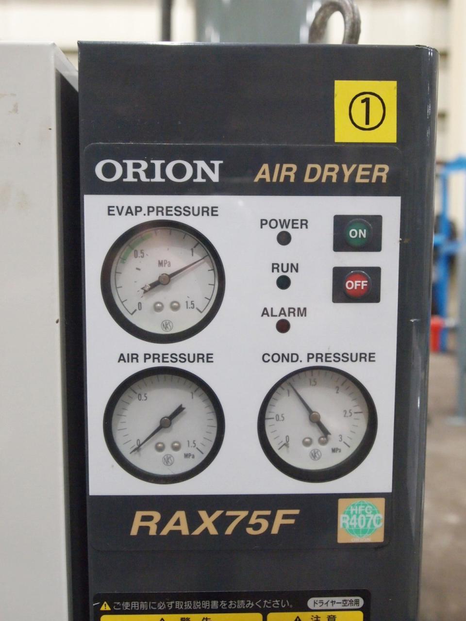 RAX75Fメーター・スイッチ類
